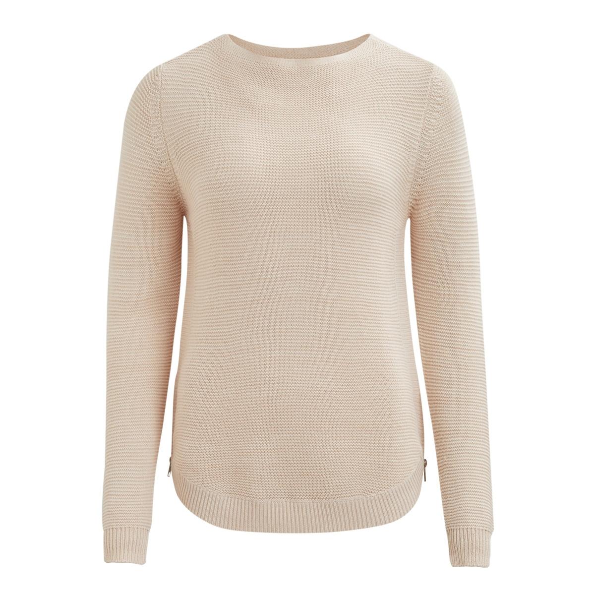 viheri l/s knit top/pb 14044337 vila trui peach blush/and cloud