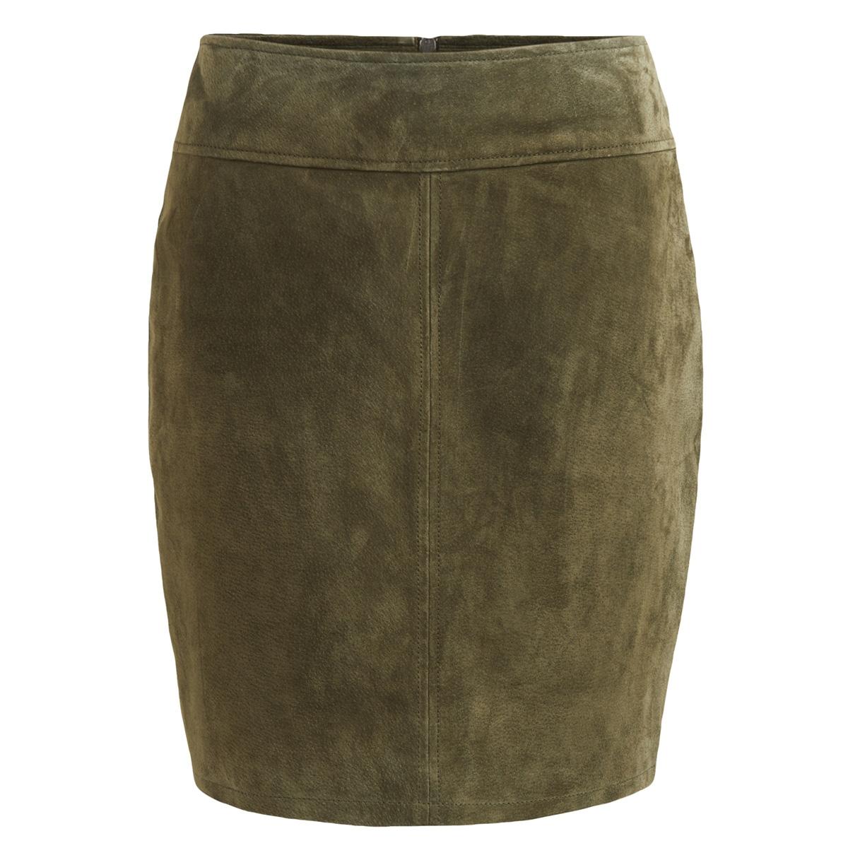 vimiss suede skirt 14045004 vila rok ivy green