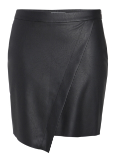 Pieces Rok PCALMA FAUX LEATHER SKIRT 17086035 Black