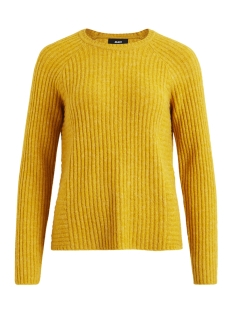 Object Trui OBJNONSIA RIB L/S KNIT PULLOVER SEASONAL 23027812 Harvest Gold