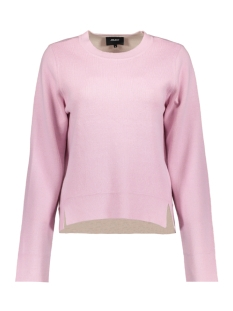Object Trui OBJSUMMER L/S KNIT PULLOVER 95 23026011 Pink Nectar