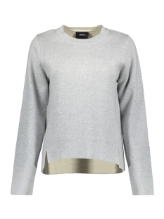 Object Trui OBJSUMMER L/S KNIT PULLOVER 95 23026011 Light Grey Melange