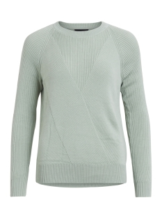 Object Trui OBJHOBY MORGAN L/S KNIT PULLOVER .I 95 23025946 Frosty Green