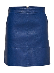 Only Rok onlLISA FAUX LEATHER SHORT SKIRT OT 15149113 Blue Depths