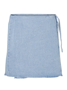 Vero Moda Rok VMNYRA MR SHORT WRAP SKIRT 10196453 Light Blue Denim