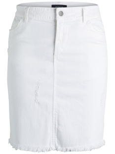 Pieces Rok PCMELLY MW DNM DES SKIRT 17087990 Bright White