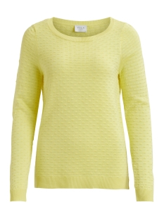 Vila Trui VISARAFINA KNIT TOP - FAV 14045222 Yellow Iris
