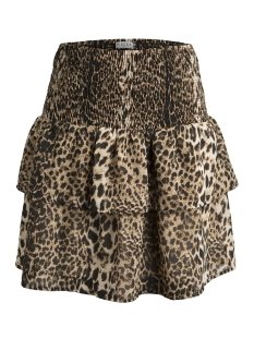 Pieces Rok PCLEON SKIRT D2D 17093762 Black/LEO