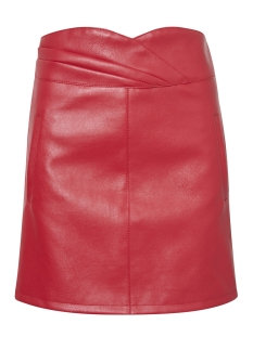 Vero Moda Rok VMCONNERY SHORT FAUX LEATHER SKIRT 10196100 Flame Scarlet