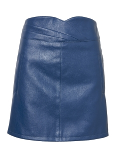 Vero Moda Rok VMCONNERY SHORT FAUX LEATHER SKIRT 10196100 Navy Blazer