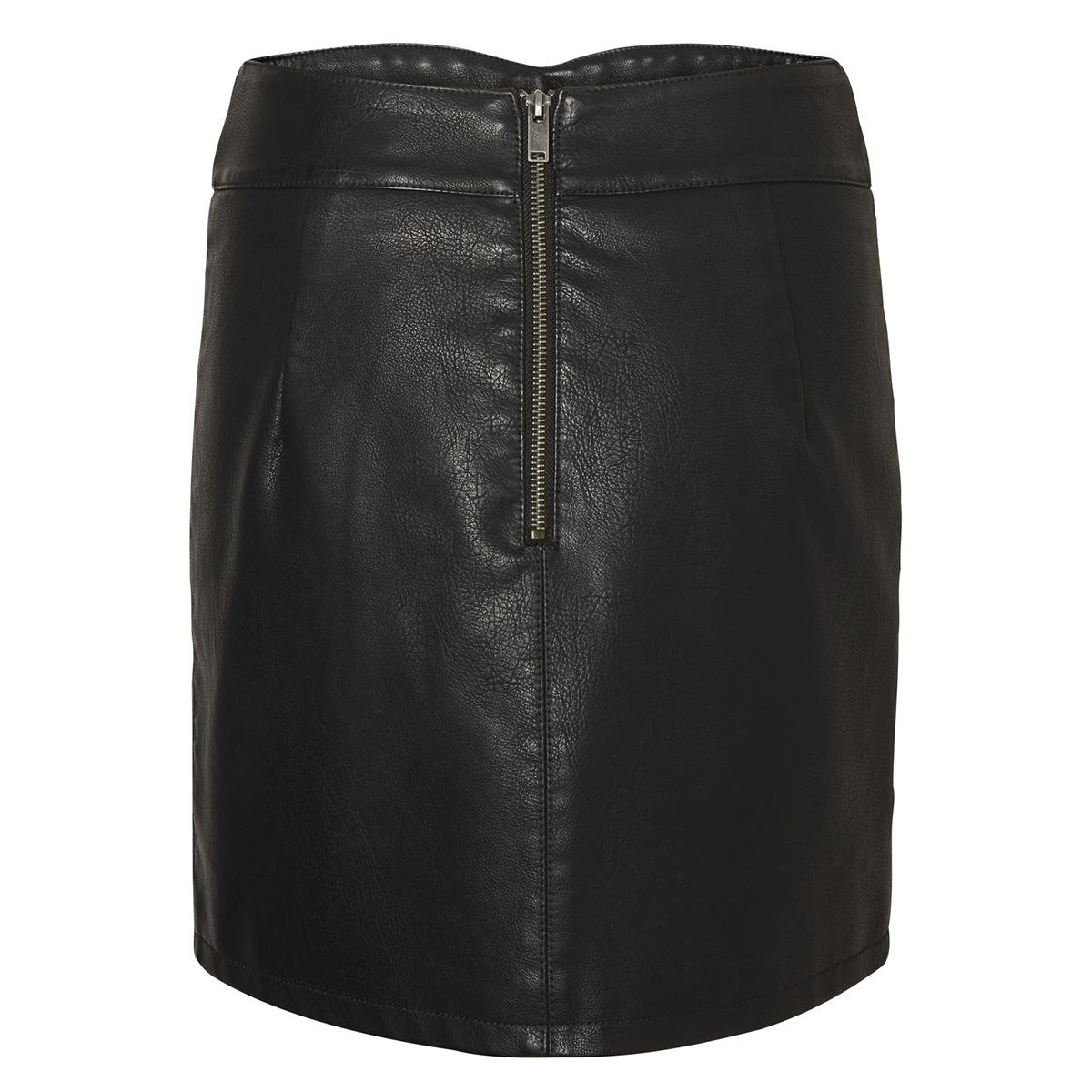 vmconnery short faux leather skirt 10196100 vero moda rok black