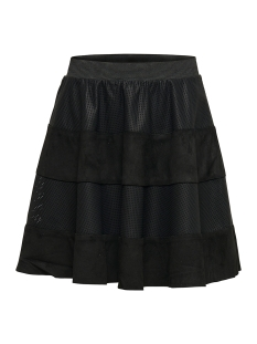 Only Rok onlNEW RIKKA FAUX LEATHER MIX SKIRT 15164810 Black