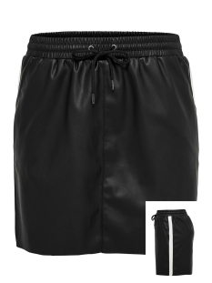 Only Rok onlMEL FAUX LEATHER CONTRAST SKIRT 15161260 Black