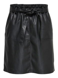 Only Rok onlRIGIE HW PU PAPER BAG SKIRT PNT 15162797 Black