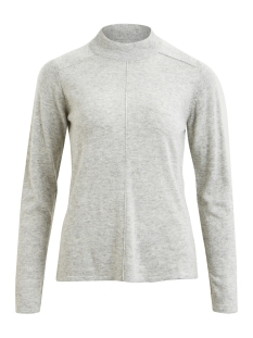 Object Trui OBJVICTORIA L/S HN KNIT PULLOVER NO 23027069 Light grey melange