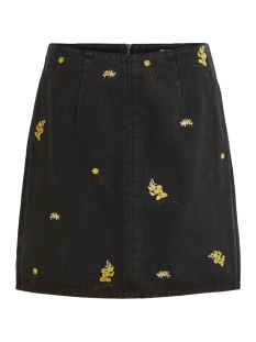Object Rok OBJMADDIE DENIM SKIRT A SP 23027913 Black/EMBROIDERY