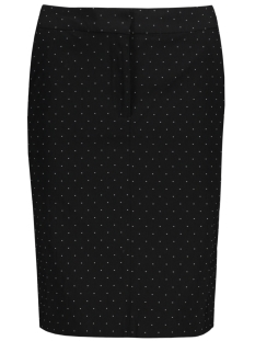 Saint Tropez Rok T8090 PENCIL SKIRT WITH TINY DOT 0001 BLACK
