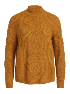 Object Trui OBJSHILOH L/S KNIT PULLOVER .I 98 23027325 Buckthorn Brown