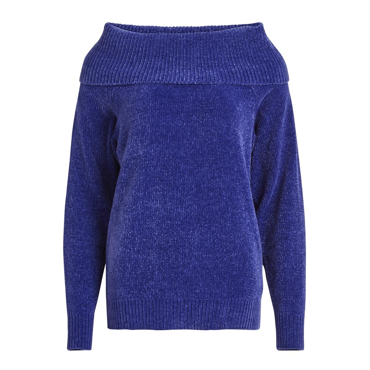 vichenni knit cowlneck l/s top 14048718 vila trui clematis blue