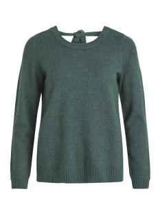 viril l/s open back knit top - noos 14048473 vila trui pine grove/melange