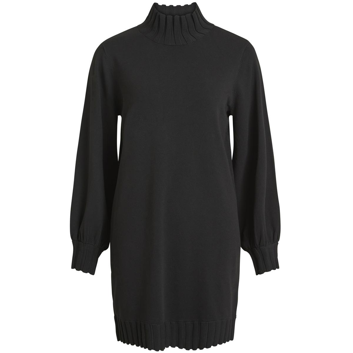 objdillinger l/s highneck dress 98 23027330 object jurk black