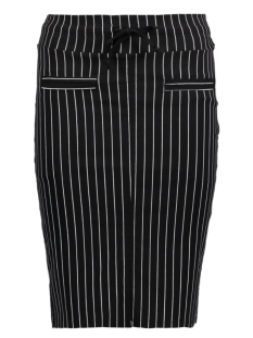 IZ NAIZ Rok 3516 SKIRT STRIPE BLACK WHITE