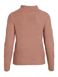 vistitta knit cable l/s top 14047845 vila trui ash rose