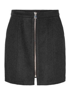 Vero Moda Rok VMJANA HW AW18 ZIP SHORT WOOL SKIRT 10202260 Dark Grey Melange/BLACK ZIPP