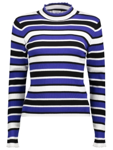 Vila Trui ILINED KNIT TURTLENECK L/S TOP 14050341 Clematis Blue/W. SILVER
