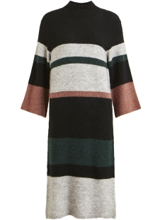 Object Jurk OBJCODY EVELYN L/S KNIT DRESS 98  23027336 Light Mahogany/COLOR BLOCKS
