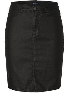 Pieces Rok PCPARO HW COATED PENCIL SKIRT -AR 17094772 Black
