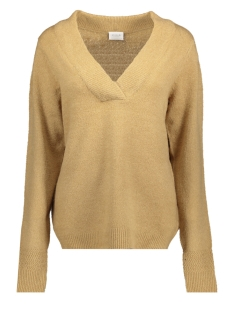 Vila Trui VIESHA KNIT V-NECK L/S TOP 14047321 Dusty Camel/MELANGE
