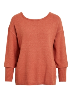 Vila Trui VIRIL BUTTON KNIT L/S TOP-FAV NX 14049676 Redwood/MELANGE