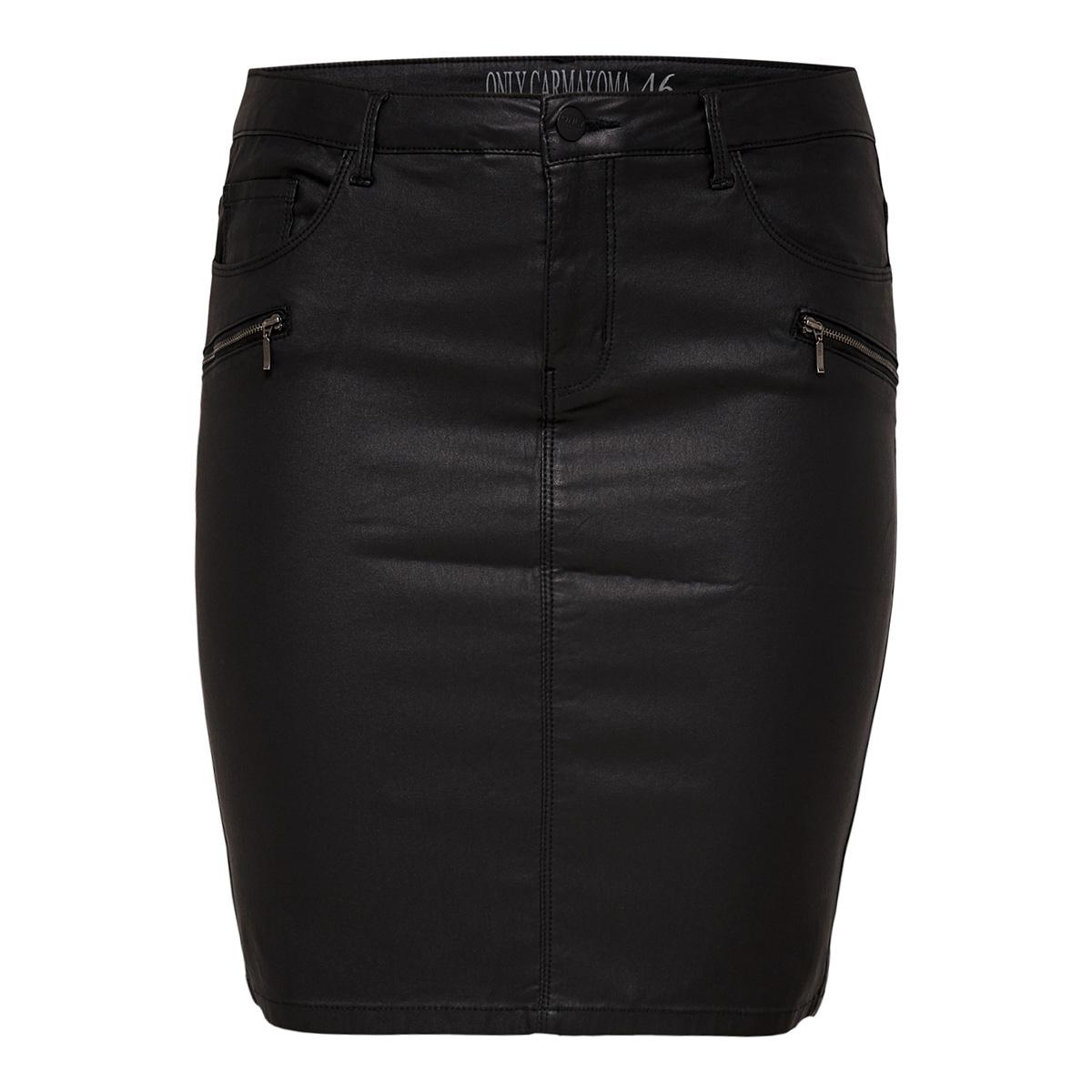 carpunk reg coated zip skirt 15168511 only carmakoma rok black