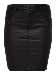 Only Carmakoma Rok carPUNK REG COATED ZIP SKIRT 15168511 Black