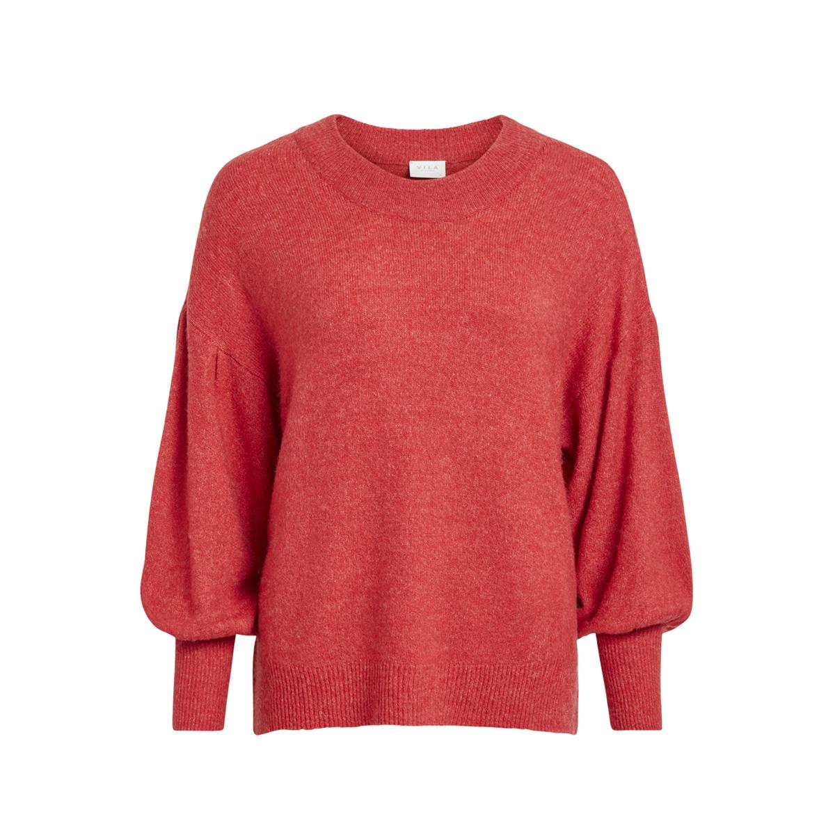 viesha knit new sleeve l/s top 14049910 vila trui barberry