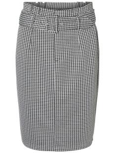 vmforever blk hw pencil skirt ga 10206738 vero moda rok black/black/whit