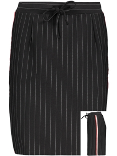 augusta 2 pinstripe skirt zoso rok black/red