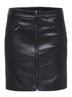 Only Rok onlVIOLET FAUX LEATHER MIX SKIRT OT 15165895 Black