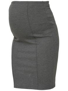 mlluna jersey pintuc skirt o. 20006808 mama-licious positie rok medium grey melange