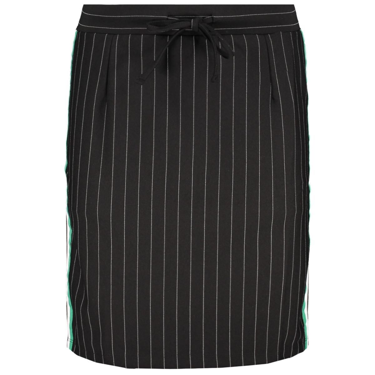 augusta 2 pinstripe skirt zoso rok black/green
