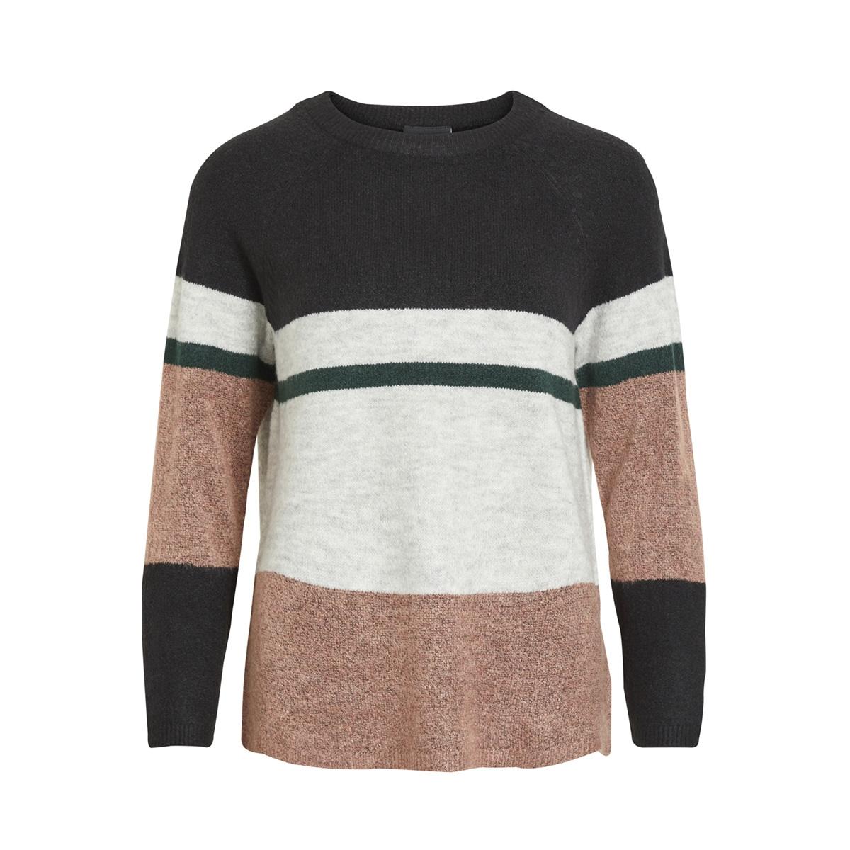 objcody evelyn l/s knit pullover 98 23027334 object trui light mahogany/color block