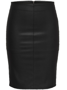 onlcelina faux leather midi skirt o 15174567 only rok black