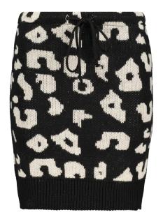 2746 leo knit skirt iz naiz rok black/white