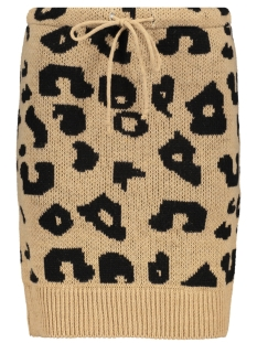 IZ NAIZ Rok 2746 LEO KNIT SKIRT CAMEL/BLACK