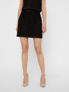 vmdonnadina faux suede short skirt 10210430 vero moda rok black