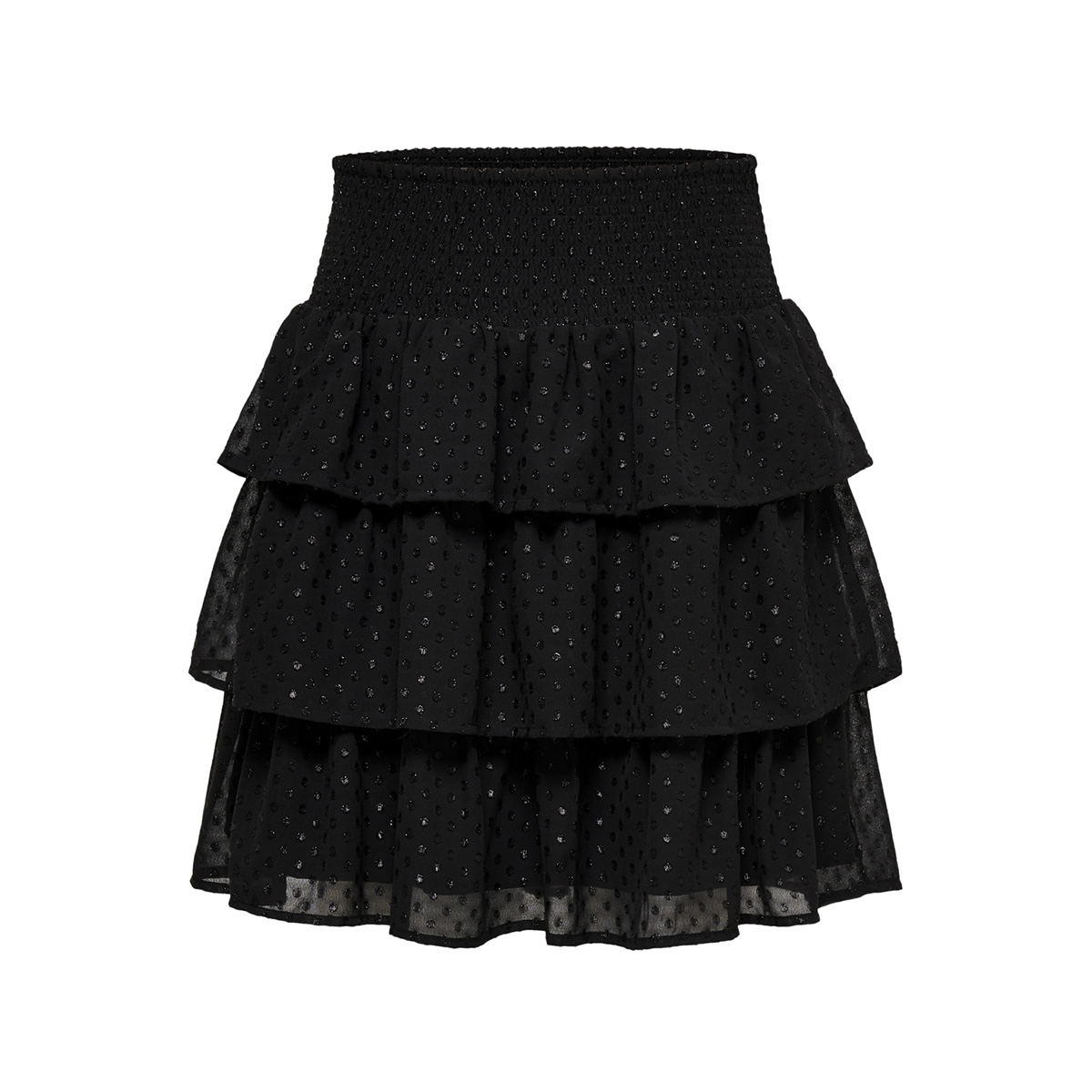 onlisabella layered short skirt wvn 15180485 only rok black