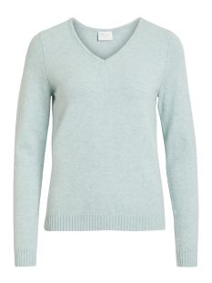 Vila Trui VIRIL L/S V-NECK KNIT TOP-NOOS 14042769 Blue Haze/MELANGE