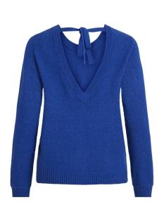 viril l/s open back knit top - noos 14048473 vila trui surf the web/melange