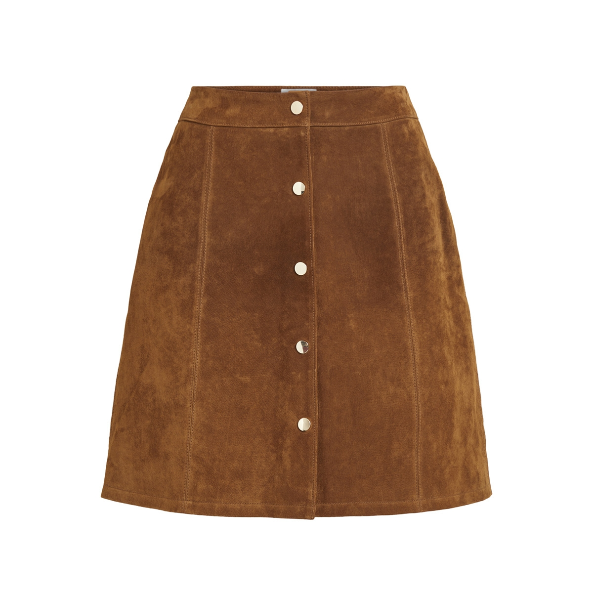 vibotini hw suede skirt 14050397 vila rok oak brown